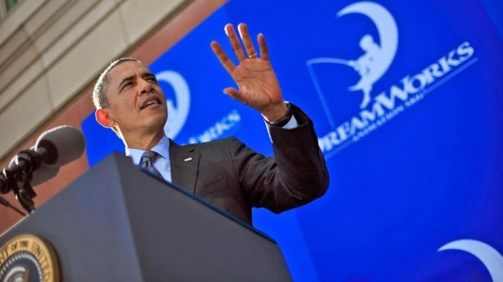 President Barack Obama in speech at Dreamworks.