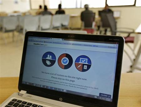 The troubled Obamacare web site (Reuters/Joe Skipper)