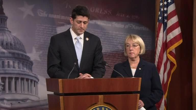 Rep. Paul Ryan and Sen. Patty Murray.