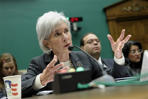 Health and Human Services Secretary Kathleen Sebelius testifies on Capitol Hill in Washington Wednesday before the House Energy and Commerce Committee hearing on the implementation failures of the Affordable Care Act. .   (AP Photo/Susan Walsh)
