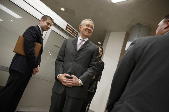 Senate Majority Leader Harry Reid of Nev.  (AP Photo/J. Scott Applewhite)