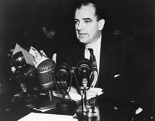 Senator Joseph McCarthy in 1954. (Courtesy National Archives)