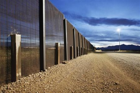 The Arizona-Mexico border fence near Naco, Arizona.  (REUTERS/Samantha Sais )