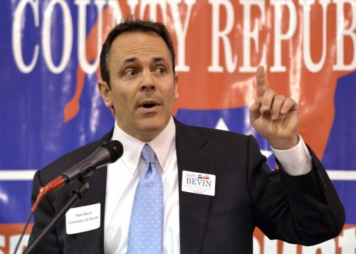 Kentucky Republican Senate candidate Matt Bevin. (AP Photo/Timothy D. Easley)