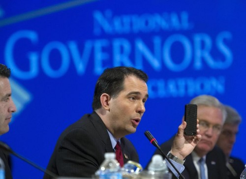 Wisconsin Gov. Scott Walker. (AP Photo/Cliff Owen)