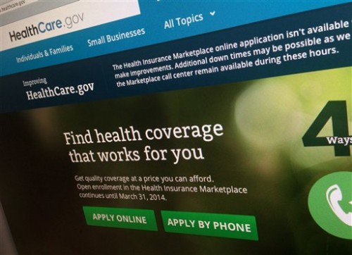 The Obamacare web site