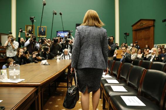 General Motors CEO Mary Barra arrives to testify before the House Energy and Commerce Committee hearing on Capitol Hill in Washington.  (REUTERS/Jonathan Ernst )
