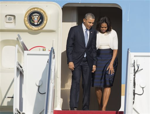 President Barack Obama and first lady Michelle Obama.   (AP Photo/Manuel Balce Ceneta)