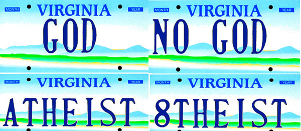 Personalized license plates available or already taken in Virginia