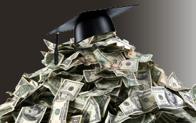 Sorry for your loss. Now, pay off your student loan