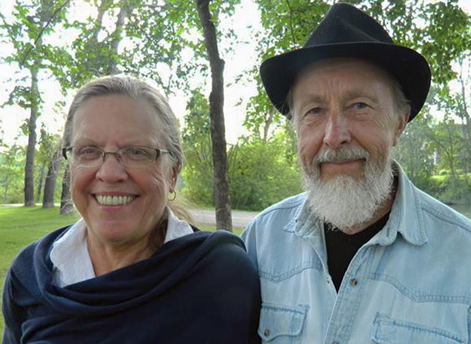 Carol Tapanila and her husband in Canada.  (AP Photo/Carol Tapanila)