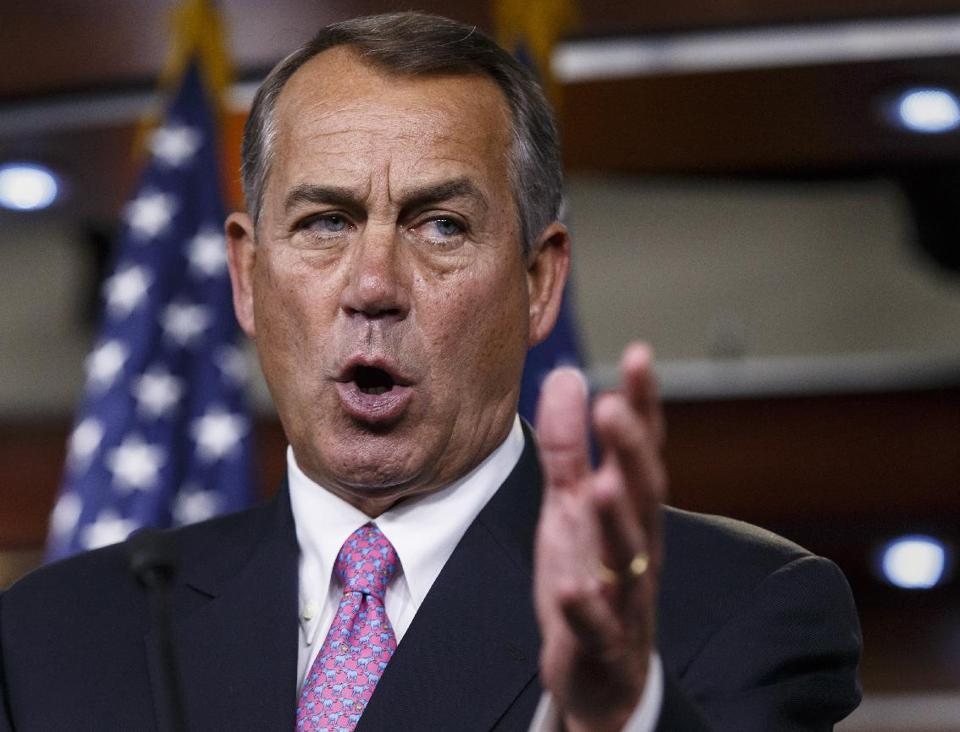 Speaker of the House John Boehner  ((AP Photo/J. Scott Applewhite)