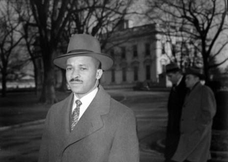 Harry McAlpin, the first black journalist to cover the President at the White House.