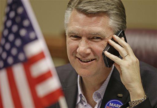 North Carolina Republican Senate candidate Mark Harris.  (AP Photo/Chuck Burton)