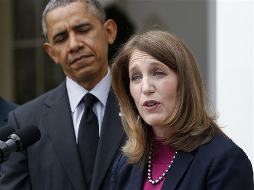 President Barack Obama and Sylvia Mathews Burwell  (AP Photo/Charles Dharapak)