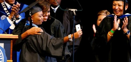 Michelle Obama to graduates: 'Stay hungry'