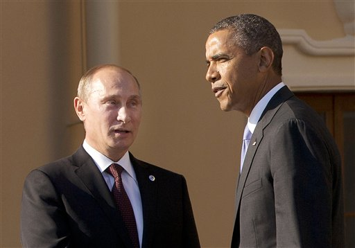 President Barack Obama with Russian President Vladimir Putin   (AP Photo/Pablo Martinez Monsivais)