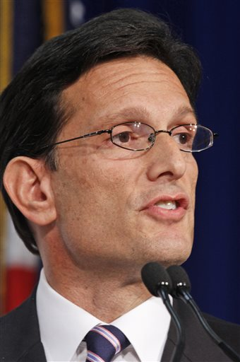 House majority leader Eric Cantor  (AP Photo/Steve Helber)