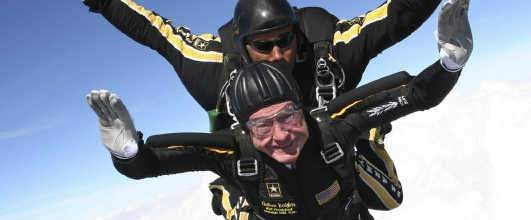 George H.W. Bush still skydiving at 90
