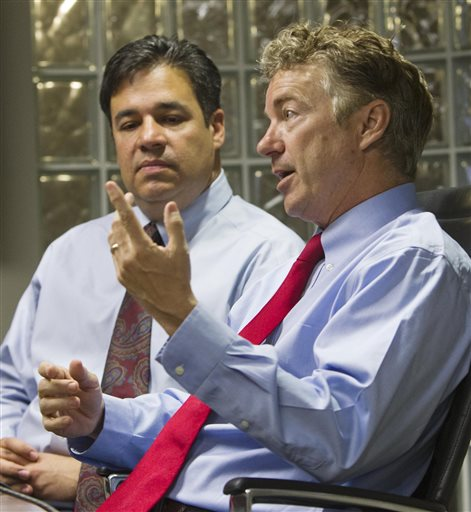 Sen. Rand Paul (right) and Rep. Raul Labrador. (AP/Darin Oswald/The Idaho Statesman)