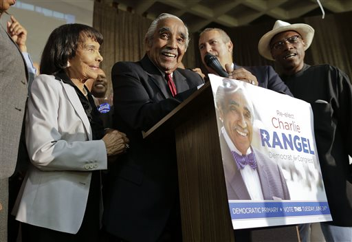 A close primary win by Charlie Rangel
