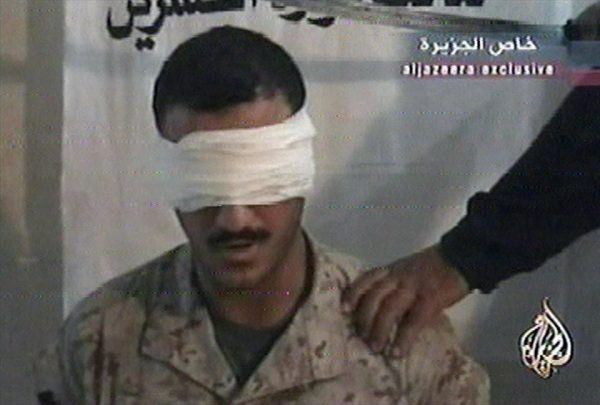 US Marine Cpl. Wassef Ali Hassoun.  (AP Photo/ Al-Jazeera via APTN)