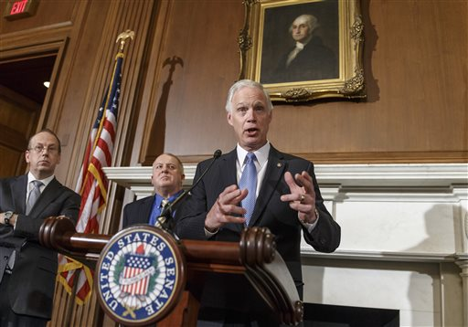 FILE - In this Jan. 6, 2014 file photo, Sen. Ron Johnson, R-Wis. (AP Photo/J. Scott Applewhite)