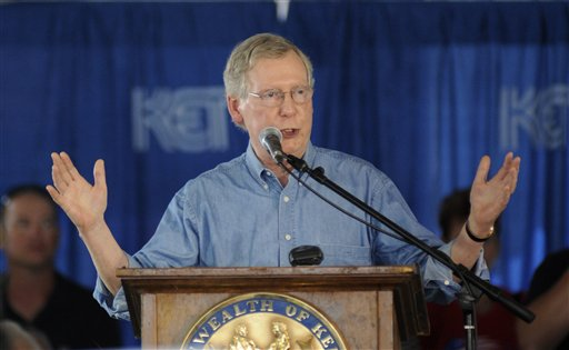 Senate Minority Leader Mitch McConnell of Ky.  (AP Photo/Stephen Lance Dennee)