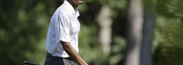 For Obama, war first, then golf
