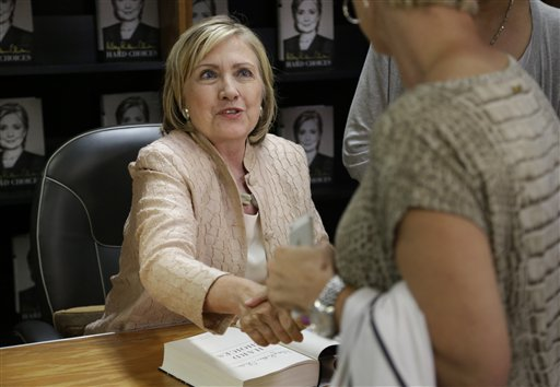 Former Secretary of State Hillary Rodham Clinton  (AP Photo/Steven Senne)