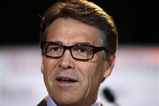 FILE - In this Friday, Aug. Texas Gov. Rick Perry (AP Photo/Tony Gutierrez)