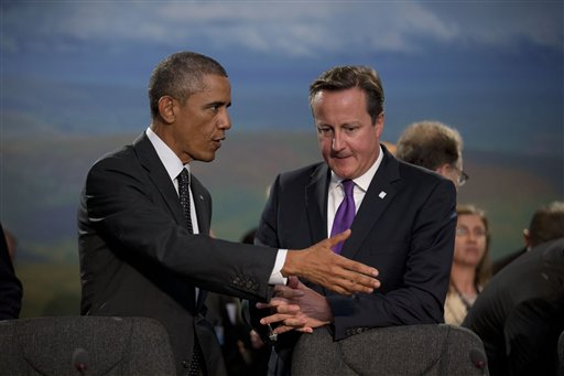 President Barack Obama and British Prime Minister David Cameron  (AP Photo/Matt Dunham)