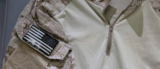 SEAL'S bin Laden raid shirt in 9/11 museum display