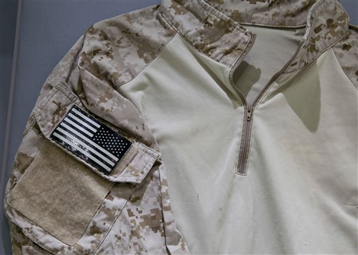 SEAL'S bin Laden raid shirt in 9/11 museum display