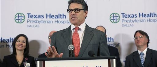 Ebola gives Rick Perry a chance to show leadership
