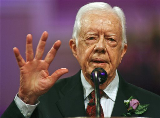 Jimmy Carter back on the campaign trail