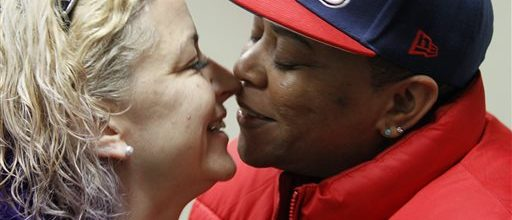 Gay couples seek marriage licenses in Alaska