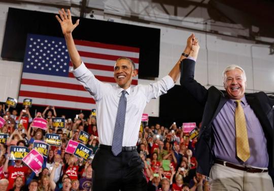 Obama goes bullish on economic messages