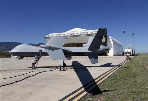 Drones on patrol along border with Mexico