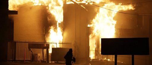 Chaos in the streets of Ferguson, Missouri