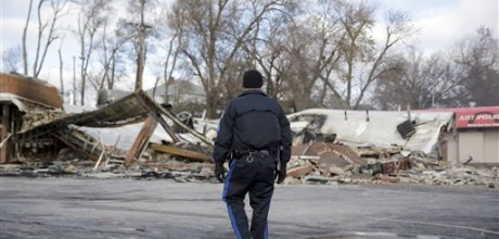 National Guard helps contain damage in Ferguson
