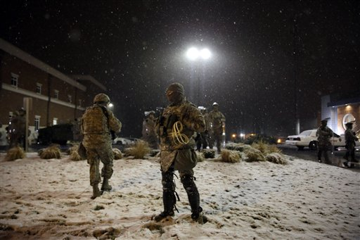 Protests dwindle in Ferguson