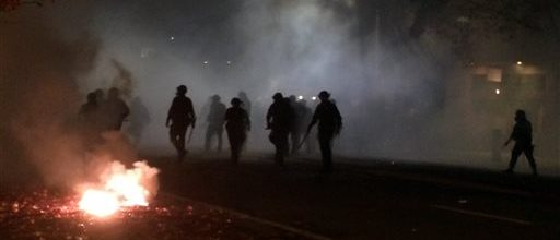 Another night of violent protests in Berkeley