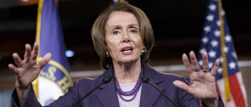 Pelosi splits with Obama, Senate over spending bill
