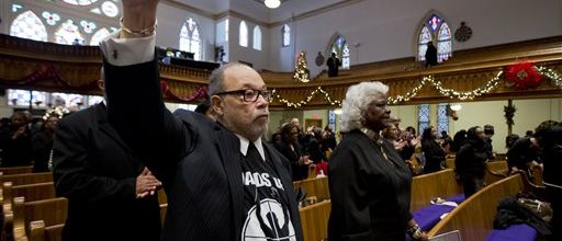 Black churches protest police slayings