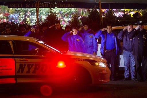 Two New York police officers ambushed, killed