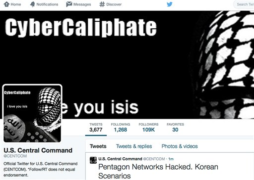 Hackers hit Twitter, YouTube military accounts
