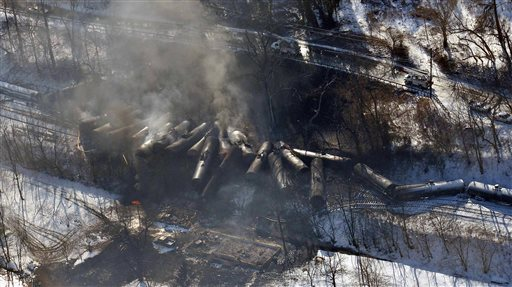Train derailments a major threat in fuel hauling