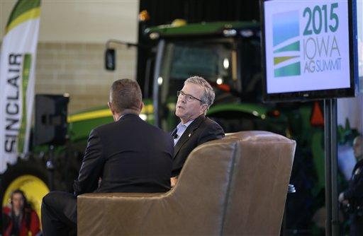 Jeb Bush hits Iowa politics head-on