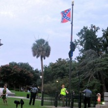 Two arrested for rebel flag removal in South Carolina